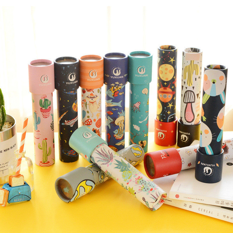 1PC New Kaleidoscope Imaginative Cartoon Children Interactive Logical Magic Classic Educational Toys for kids