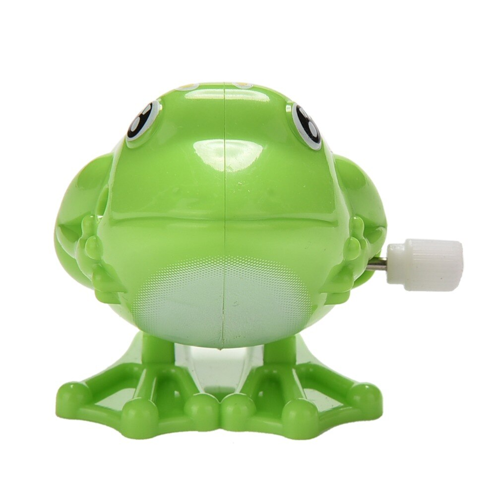 1Pcs Wind up Green Frog Toy Plastic Jumping Outdoor Animal Classic Educational Clockwork Kid Toys