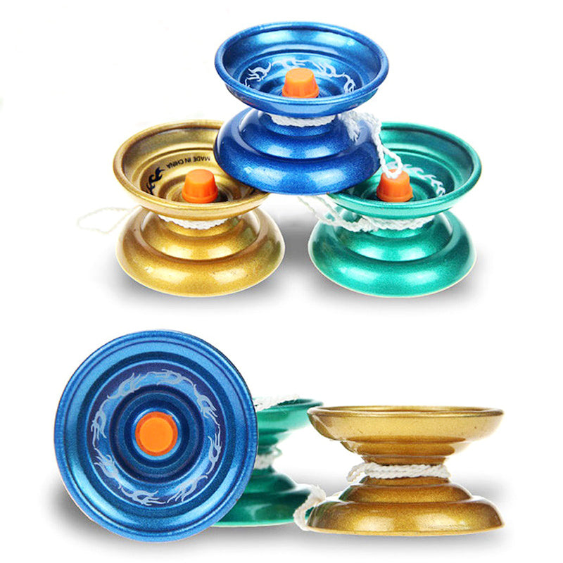Magic Yoyo Professional Classic Toys For Children Kids Stress Reliever Decompression Metal Yo Yo Juggle Baby Toys For Boys Gifts
