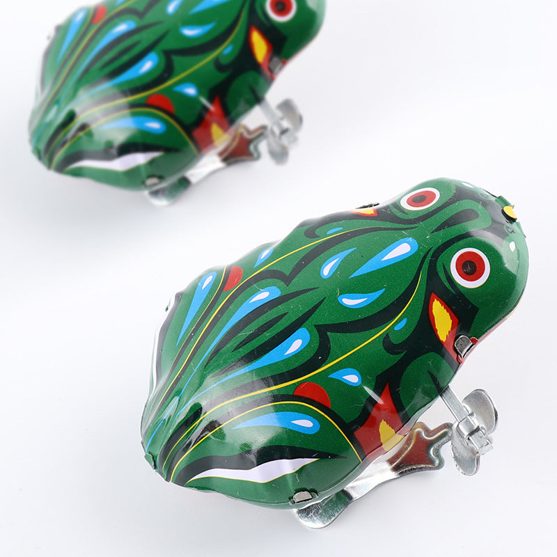 Kids Toys Classic Nostalgic Clockwork Toy Jump Frog Cock Rat Retro Toys Children Puzzle Education Free Shipping