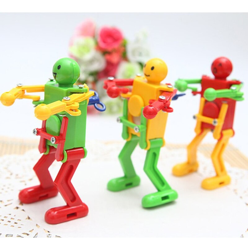 Classic Cute Cartoon Animal Wind Up Toys Children Kids Plastic Clockwork Spring Wind-Up Dancing Robot Toy Best Gifts