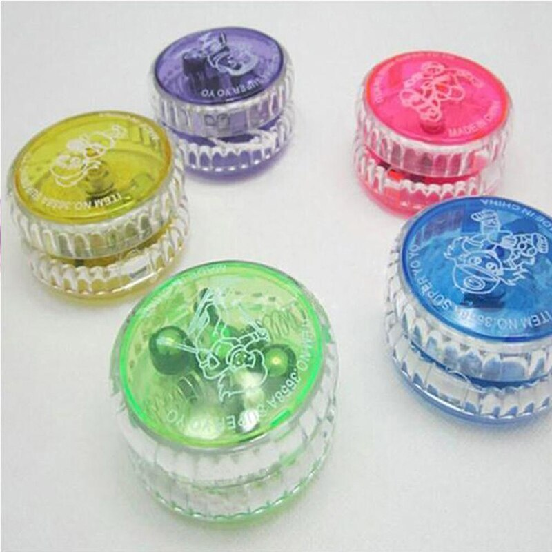 Professional Yoyo Set Flashing LED Glow Magic Yoyo Ball Plastic Responsive Yoyos Classic Toys for Kids Beginners Learner J11