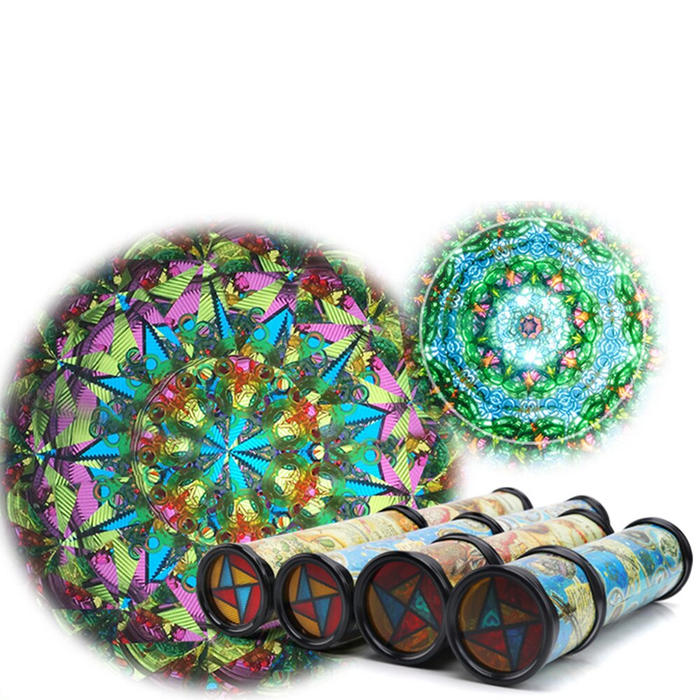 Colorful Kaleidoscope Children's Toys Early Educational Science Toy Cartoon Classic Toy Twisting Kaleidoscopes Rotating Random
