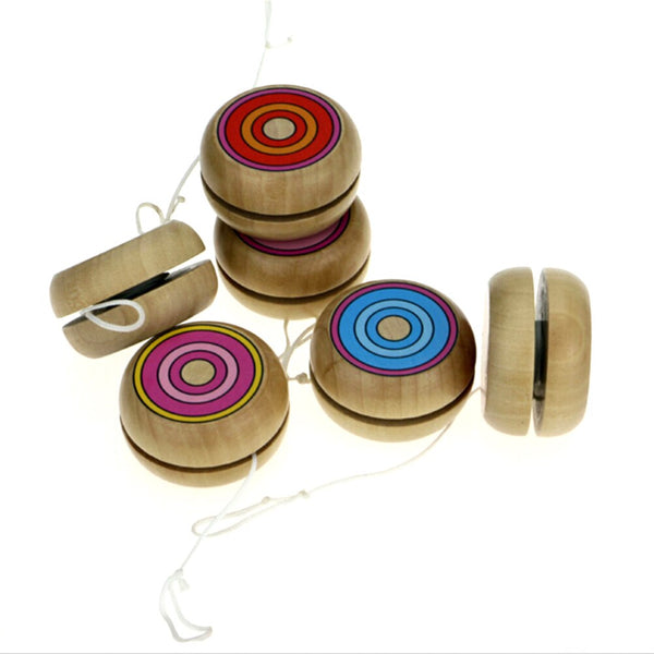 Kids Intelligence Educational Hand-Eye Coordination Development Yoyo Toy Baby Classic Toys Random Wooden Yoyo Toys