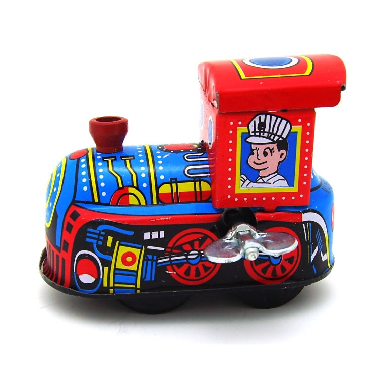 Kids Gift Clockwork Toys Retro Steam Train,Fire truck Reminiscence Children Vintage Tin Toy Kid Classic Toys Wind Up Toys Boy