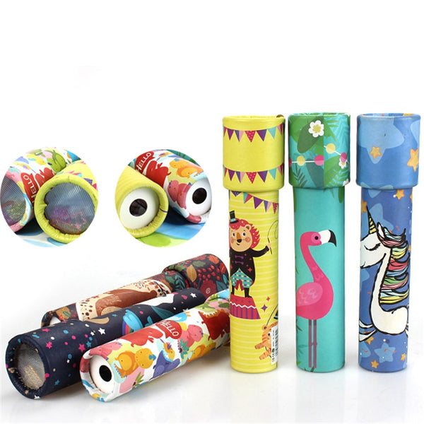 Montessori Rotating Kaleidoscope Imaginative Cartoon Prince Children Interactive Logical Magic Classic Educational Toys for Kids