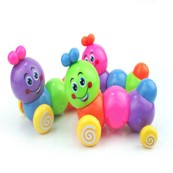 Cute Cartoon Caterpillar Wind Up Toys Running Clockwork Classic Toy Newborn Spring Toy Random Color