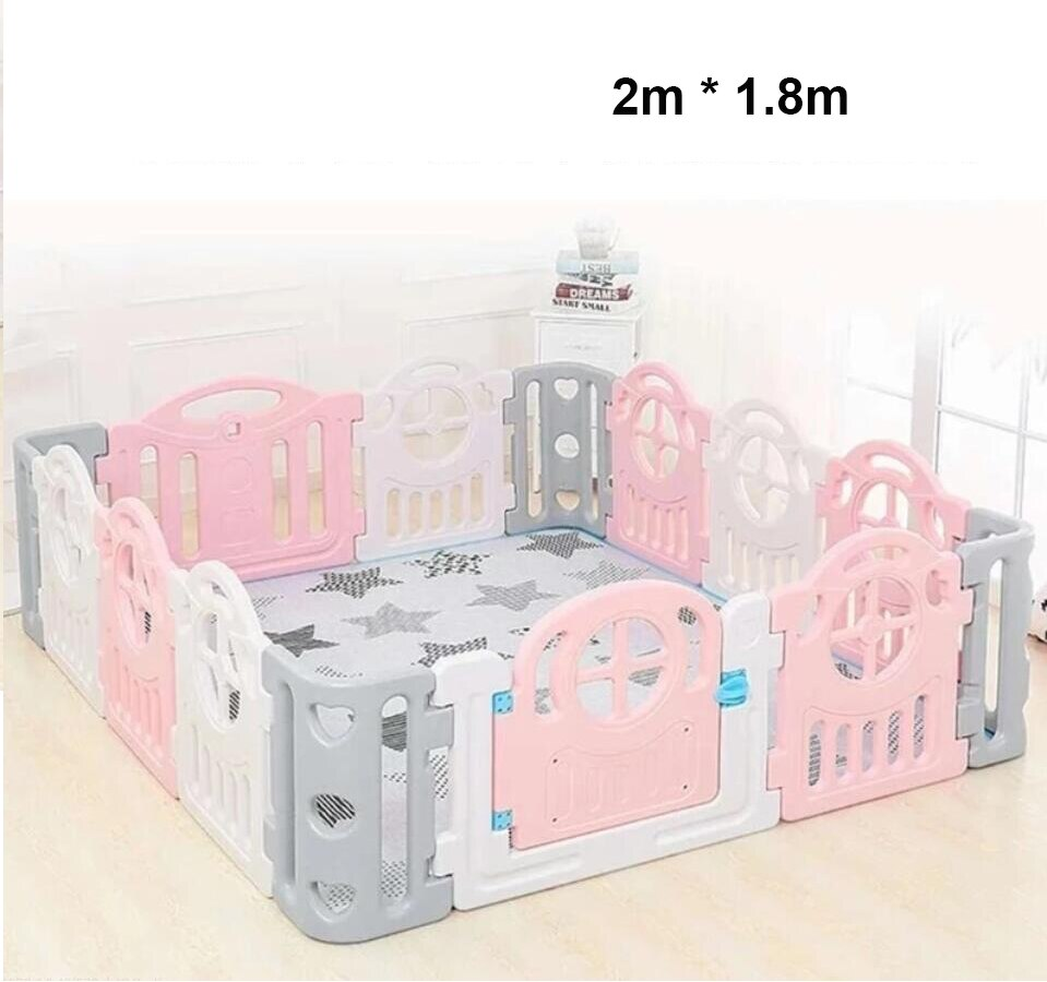 Baby Game Fence Indoor Amusement Toddler Playpens for Children with Play Mat Home Safety Fence Toys Kids Ball Pool