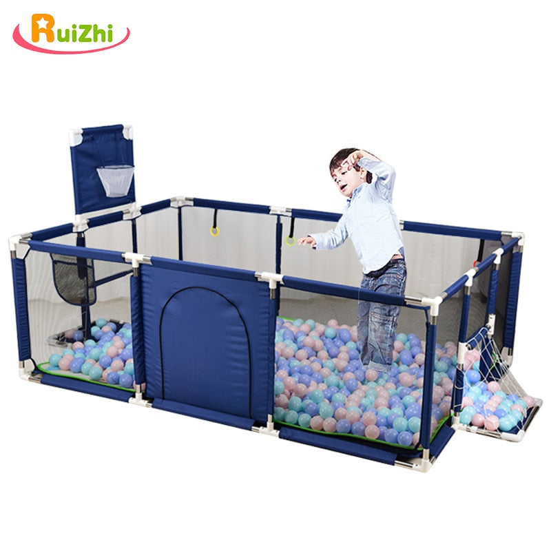 Ruizhi Children Cloth Playpen With Basketball Stands Baby Game Tent Infant Toddler Ocean Balls Pool Pit Kids Sport Toys RZ1216