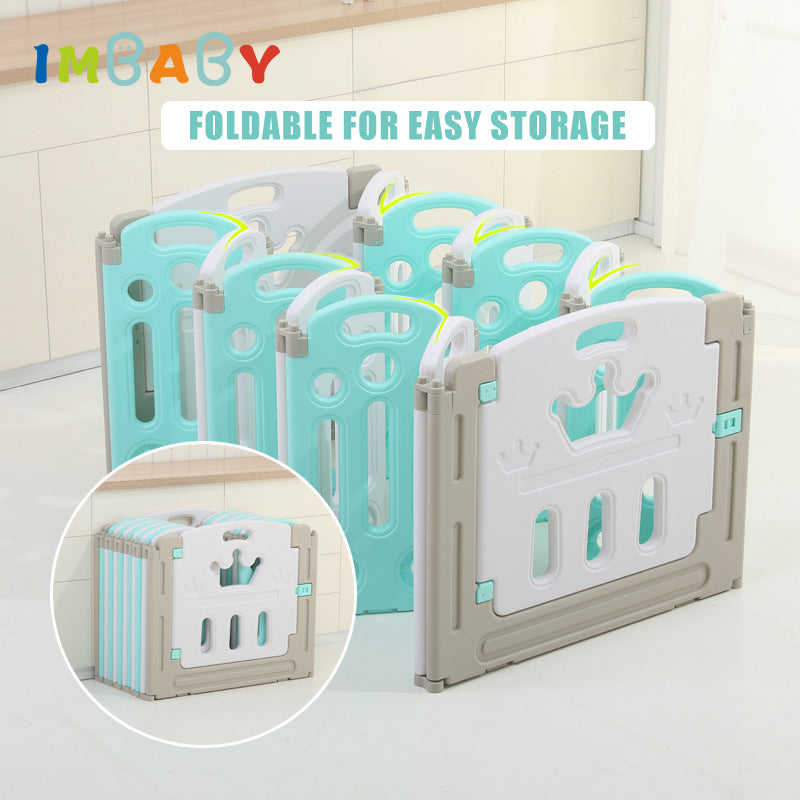 IMBABY New Baby Playpen kids Indoor Playground Slide Family Amusement Park Children Security Fence Toddler Ball Pool Toys Game