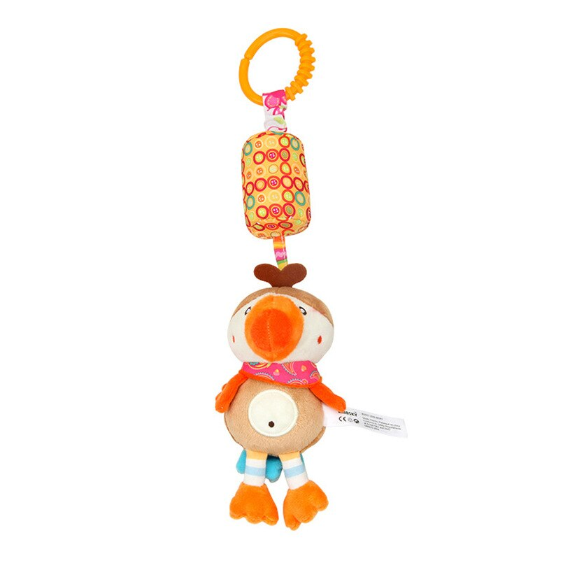 Baby Toys Animal Plush Baby Music Rattles Mobile Toys Bell for Toddlers Hanging Stroller Bed Newborn Toys 0-12 Months