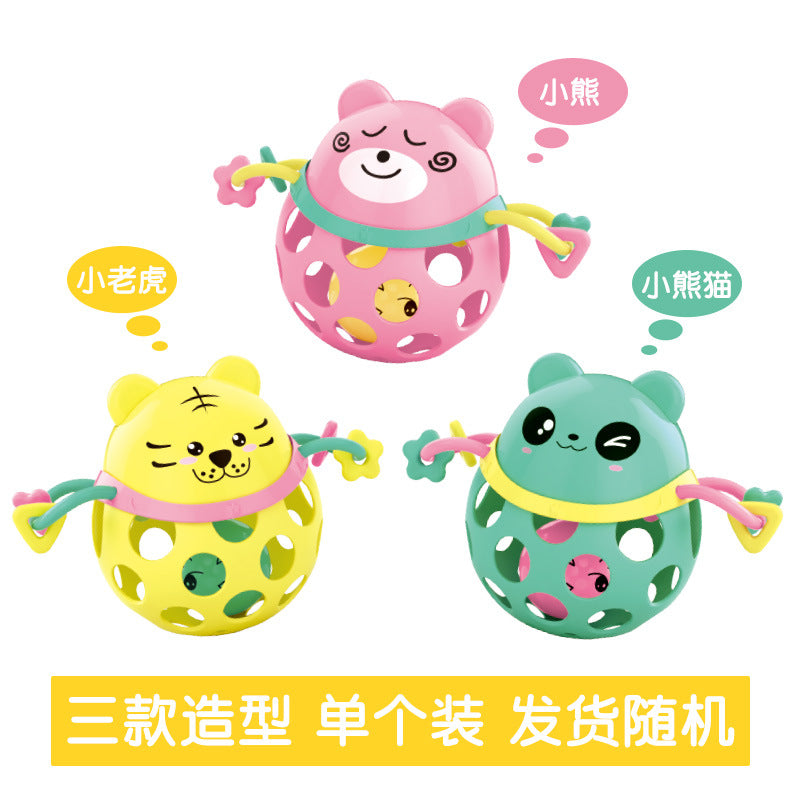 Baby Rattle Intelligence Hand Grab Ball Toy Animal Soft Gum Tooth Ring  Baby 0-12 Months Sound Soft Infant Toddler Toys