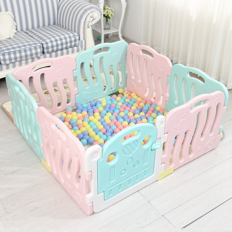 Baby Fence Kids Indoor Game Gate Bar Baby Crawling Toddler Safety Fence Baby Playpen Toy for Children