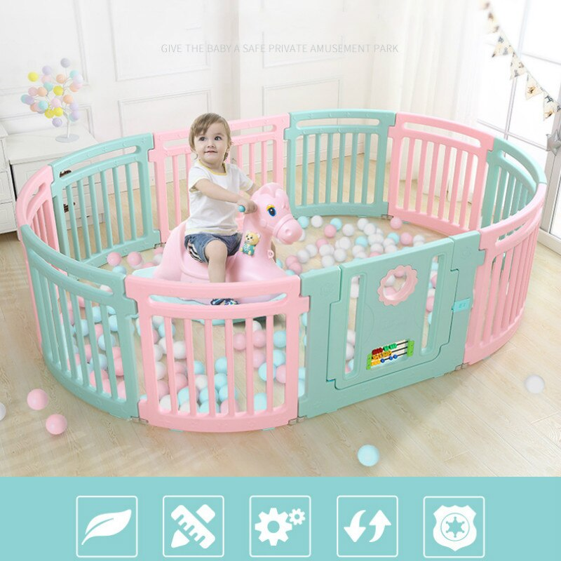 Kids round creative fence toddler games safety protective baby playpen for playing ball toy pool