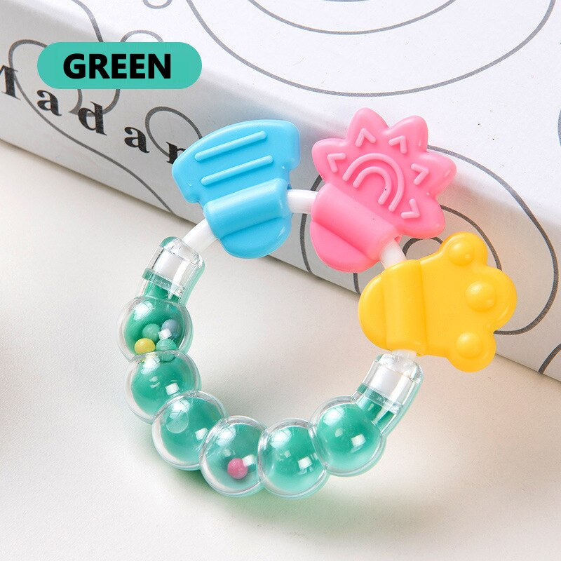 Safe Baby Teether Toys Toddle BPA Free Banana Teething Ring Silicone Chew Dental Care Toothbrush Nursing Beads Gift For Toddler