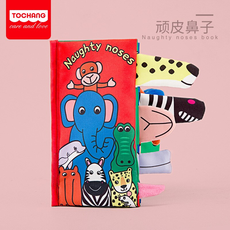 Baby Soft Cloth Book Animal Tail Cloth Book Baby Educational Toy Toddlers Toys for Learning