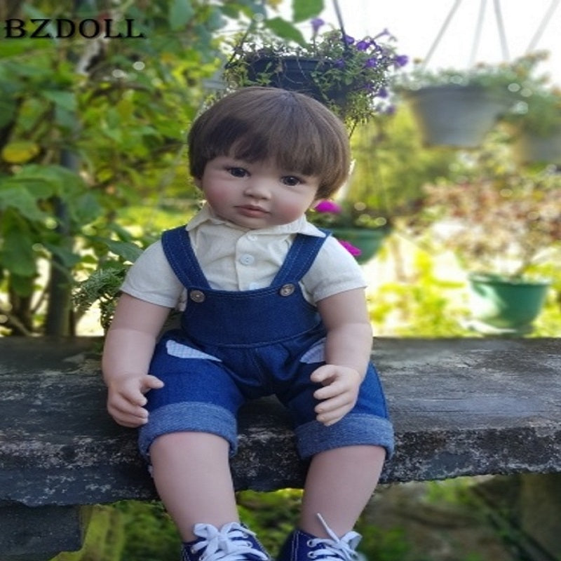 60cm Silicone Vinyl Reborn Baby Boy Doll Toys 24inch Cheap Toddler Babies Doll Kid Birthday Gift Present Girls Play House Boneca