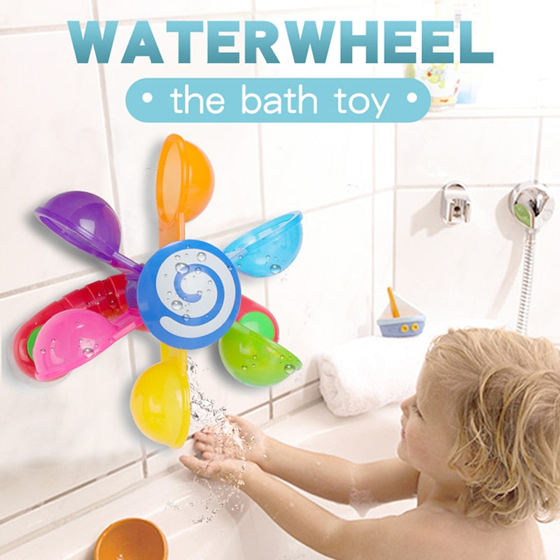 Baby Bath Toys Play In Scoop Water Mini Windmill Waterwheel Toddler Bathroom Bathtub Bathing Toy Kids Summer Swimming Pool Games