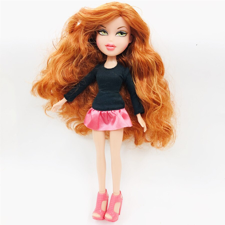 new 23cm Original Fashion Action Figure original Bratz Doll YASMIN red hair Beautiful doll Best Gift for Child