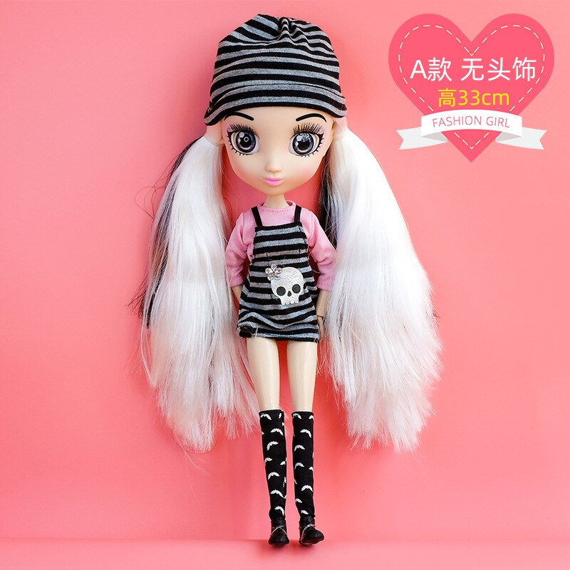 15cm/ 33cm Boby Girl BJD Doll Dress up Toy with Beatiful Hair Joint Moveable 3D Eyes Princess Toy Children Doll Toy