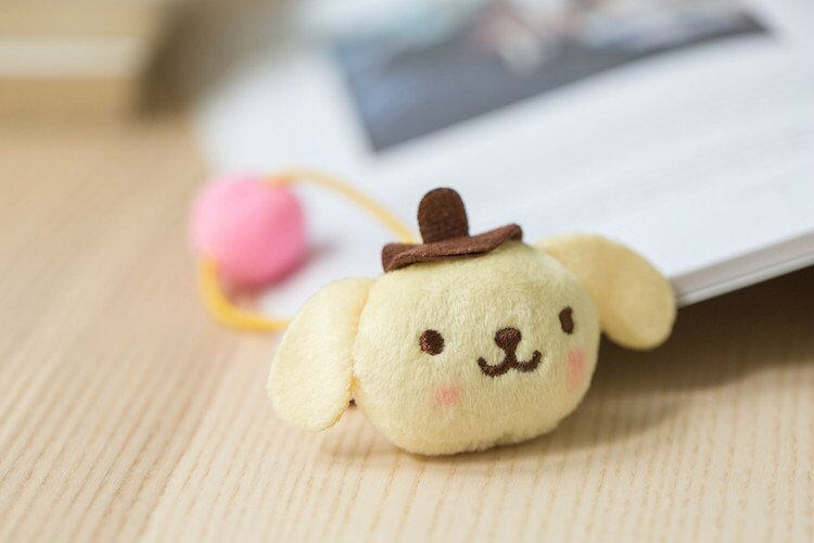 New Cute Melody Little Twin Stars Cinnamoroll Doll Plush Hair Rope Plush Doll  for Girl Kid Gifts