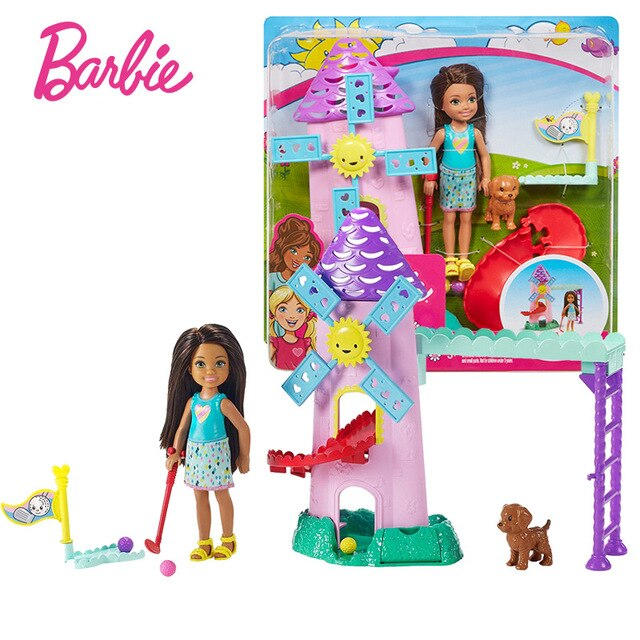 Original Barbie Chelsea Doll Boneca baby bed time Feature Rainbow Mermaid Good Night Toys For children Birthday dolls for girls