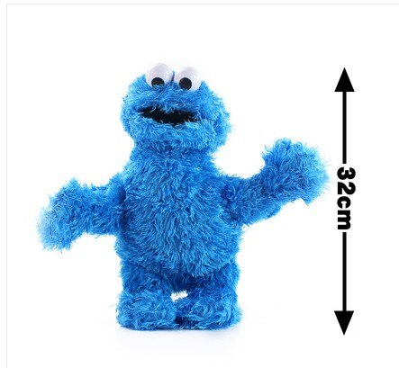Sesame Street 7 Pieces Plush Dolls Big Bird Elmo Cookie Monster Ernie  Grover Stuffed Dolls for children  Educational Toys