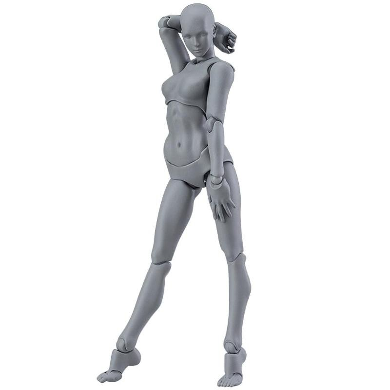 PVC Action Figure Human Movable Body Joints Doll Male Female Nude Archetype