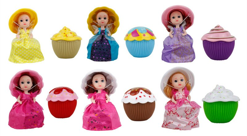 15cm Cartoon Lovely Surprise Cupcake Princess Doll Transformed Scented Beautiful Cute Cake Doll Girls Toys gifts