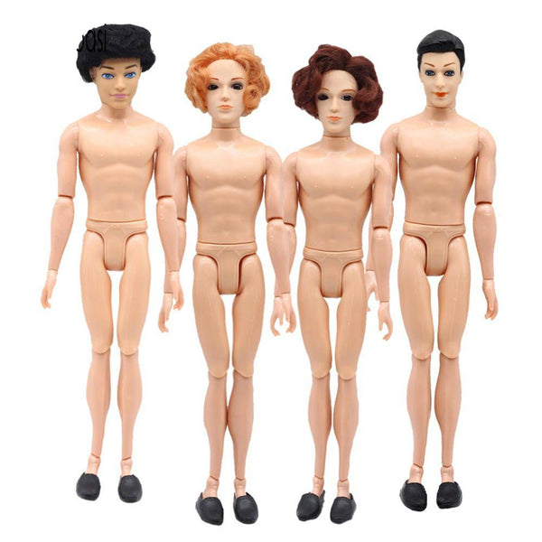 14 Moveable Jointed 30cm Ken dolls boyfriend man Prince naked man Ken doll body head toys for girls gifts