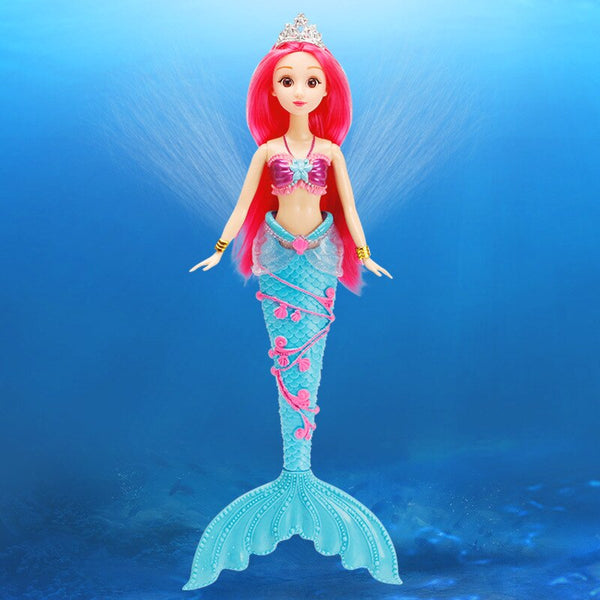 Princess Toy Doll Water Spray Mermaid Long Hair Princess Girl Birthday Girl Doll Girl Child Fun Toy Parent-Child Interaction