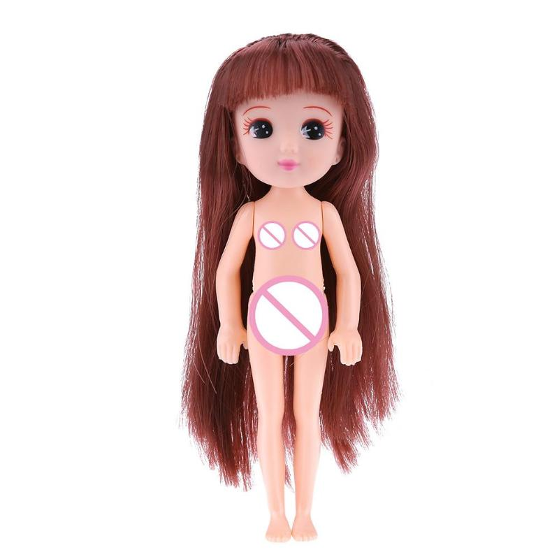 Doll Naked Body Moveable Joints Toy Doll Body Head Princess birthday Cake Baking Accessories Dolls for Kids Baby baby doll toys
