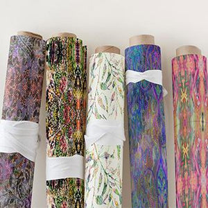 Designer Fabrics for upholstery, curtains, linens by Patricia B for her brand Design Poetry