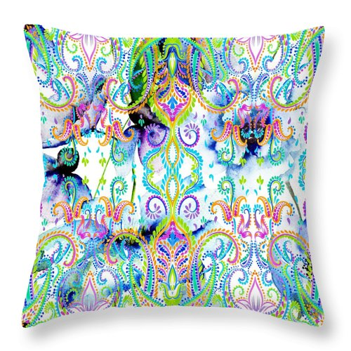 Colorful - Spring Rain - Throw Pillow