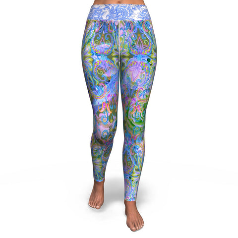 Demure Bleu Yoga Leggings