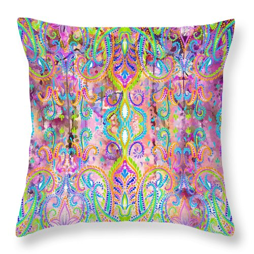 Colorful - Pink Grapefruit - Throw Pillow