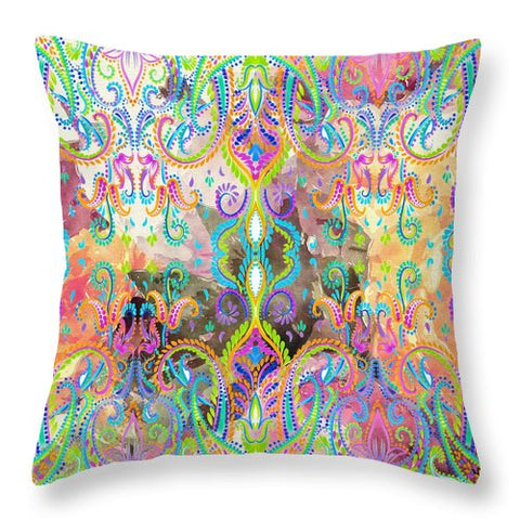 Colorful - Fiona - Throw Pillow