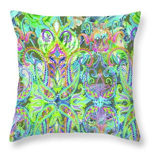 Colorful - Demure - Throw Pillow