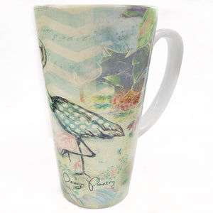 Latte Mug- By the Sea, Egret