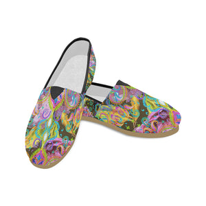 Lush Canvas Slip Ons by Patricia Ann Brubaker