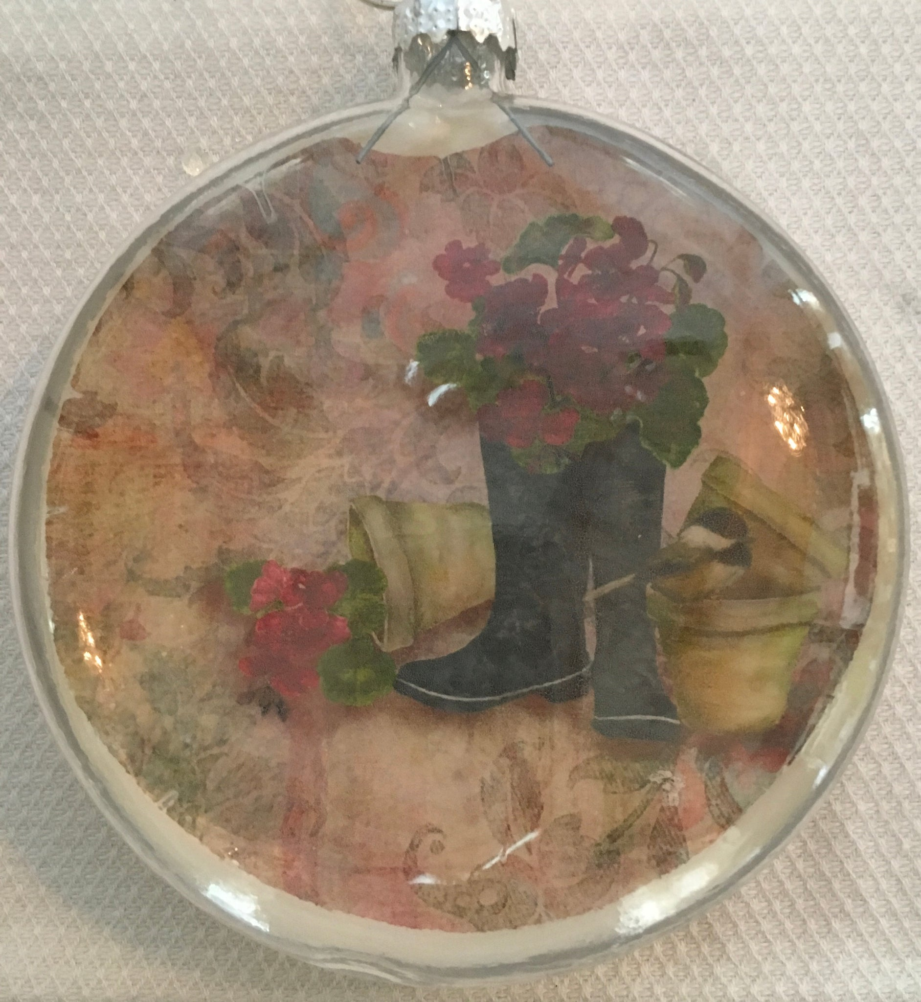 Everyday Ornaments- Geranium Garden Boots