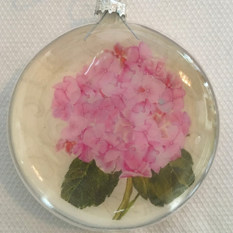 Everyday Ornaments- Summer Blooms- Hydrangea Pink