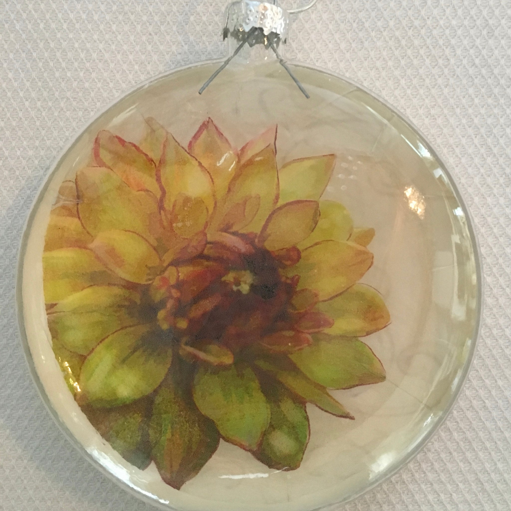 Everyday Ornaments- Summer Blooms- Mum Gold