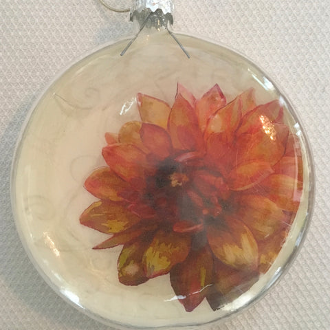 Everyday Ornaments- Summer Blooms- Mum Tangerine