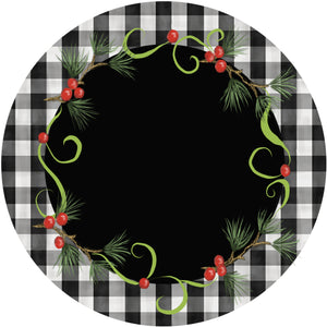 Holiday Splendor- Buffalo Plaid on Black