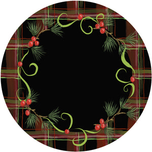 Holiday Splendor- Red Plaid on Black