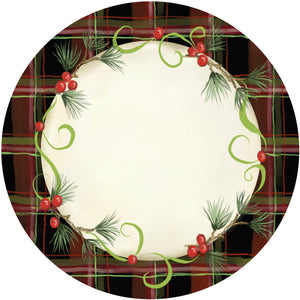 Holiday Splendor- Red Plaid on Cream