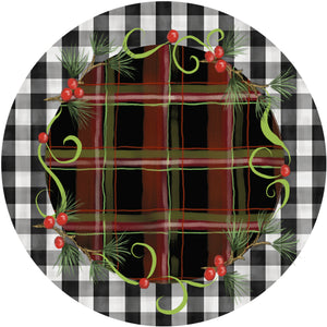 Holiday Splendor- Rustic Plaid on Buffalo Check