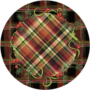 Holiday Splendor- Festive Plaid on Rustic Plaid