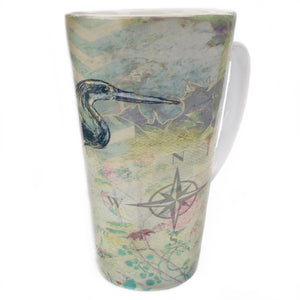 Latte Mug- By the Sea, Heron